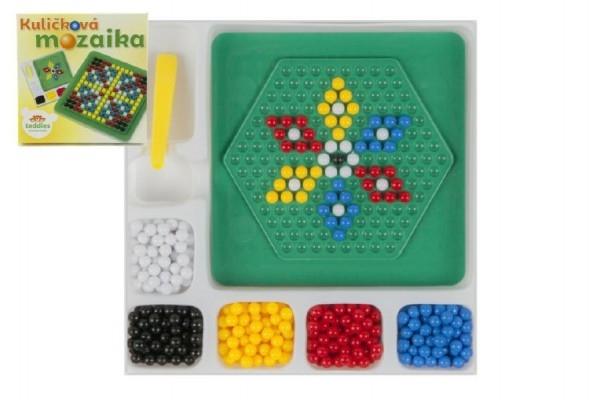 Mozaika guličkové malá 250 ks plast 12x12cm v krabičke
