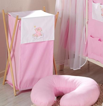 Luxusné praktický kôš na bielizeň - MRÁČIK ružový