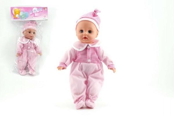 Bábika / bábätko žmurkacia mäkké telo plast 35cm na batérie so zvukom v sáčku
