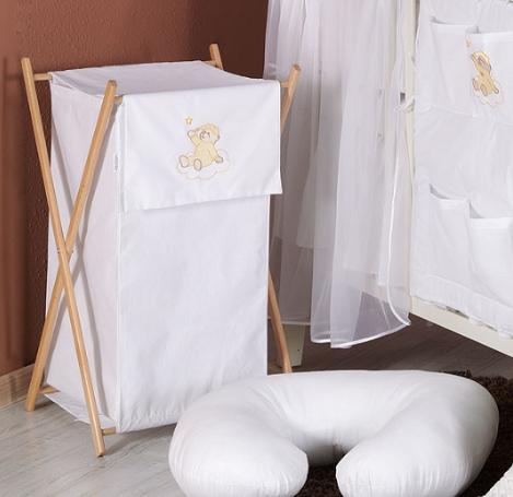 Luxusné praktický kôš na bielizeň - MRÁČIK biely