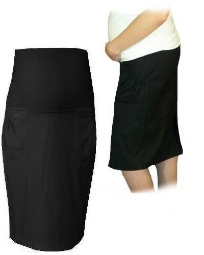 Tehotenská športová sukňa s vreckami - čierna