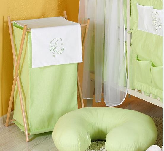 Luxusné praktický kôš na bielizeň - MESIAC zelený