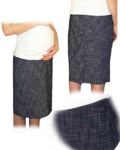 Be MaaMaa Tehotenská športová sukňa s vreckami melirovaný granát, vel´. M