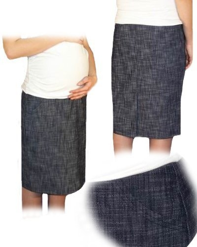 Be MaaMaa Tehotenská športová sukňa s vreckami melirovaný granát, vel´. L