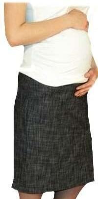 Tehotenská športová sukňa s vreckami melirovaná - čierna