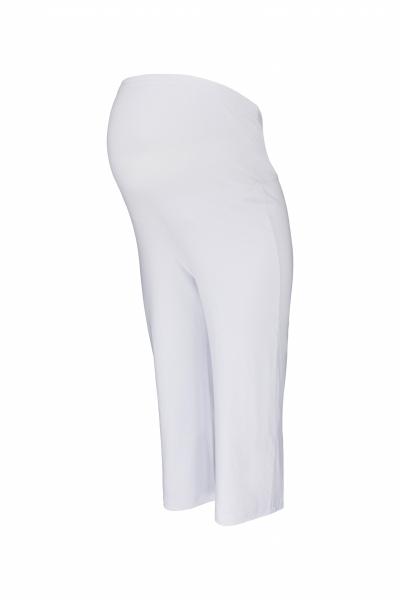 Be MaaMaa Tehotenské 3/4 tepláky s elastickým pásom - biele, vel´. L