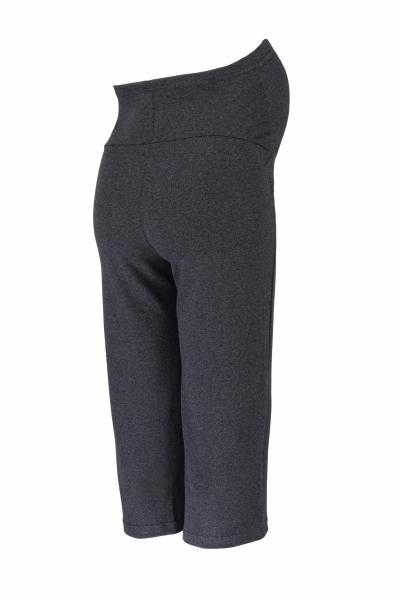 Tehotenské 3/4 tepláky s elastickým pásom - čierne