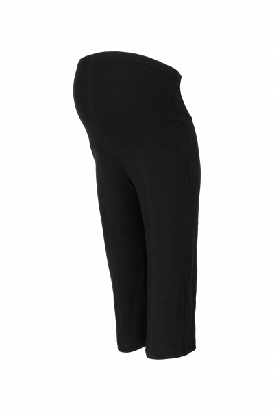 Be MaaMaa Tehotenské 3/4 tepláky s elastickým pásom - čierne, vel´. XXL-#Velikosti těh. moda;XXL (44)