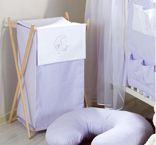 Luxusné praktický kôš na bielizeň - MESIAC fialový