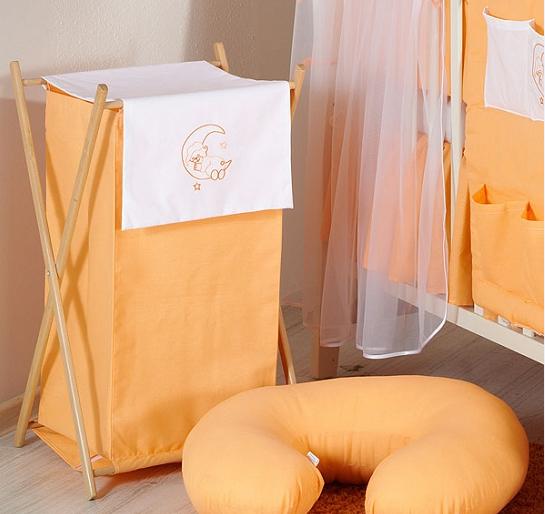 Luxusné praktický kôš na bielizeň - MESIAC broskyňa