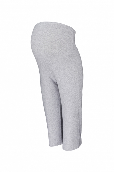 Tehotenské 3/4 tepláky s elastickým pásom - šedé