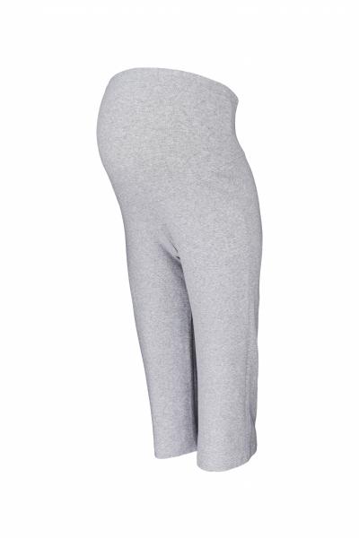 Be MaaMaa Tehotenské 3/4 tepláky s elastickým pásom - šedé, vel´. XL-XL (42)