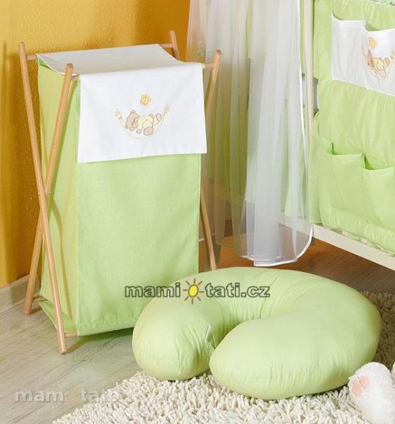 Luxusné praktický kôš na bielizeň - HOJDAČKA zelená
