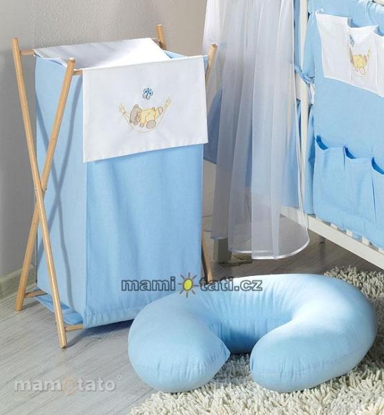 Luxusné praktický kôš na bielizeň - HOJDAČKA modrá