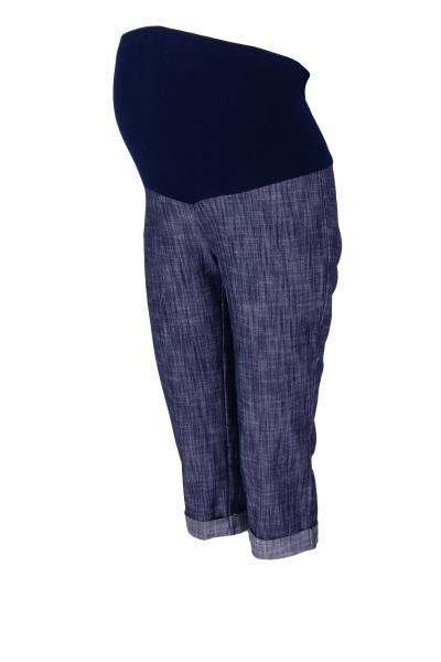 Be MaaMaa Tehotenské 3/4 nohavice s elastickým pásom - granat/melírované, vel´. XXL