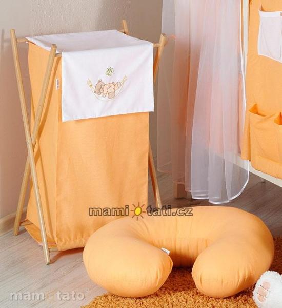 Luxusné praktický kôš na bielizeň - HOJDAČKA oranžová