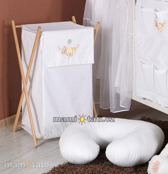 Luxusné praktický kôš na bielizeň - HOJDAČKA biela