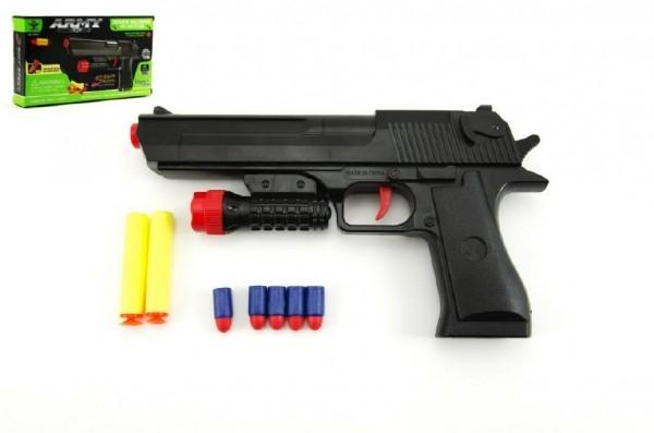Teddies Pištoľ na penové náboje 2ks + špuntovka 5ks plast 30cm v krabici