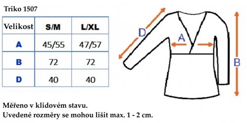 Tehotenské, dojčiace triko 3/4 rukáv - cappucino