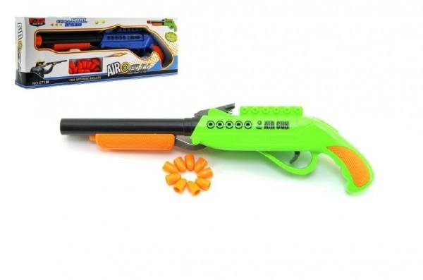 Teddies Pištoľ špuntovka dvojhlavová plast 27cm asst 2 farby v krabici