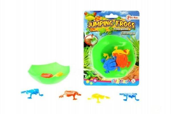 Teddies Mini skákajúci žaby plast na karte 12,5x17cm
