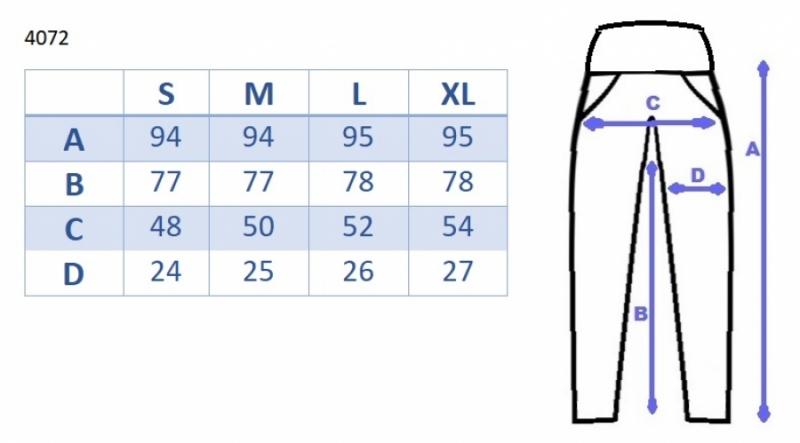 Tehotenské nohavice s elastickým pásom, s vreckami - čierne veľ.M