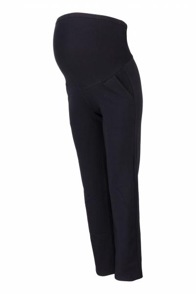 Be MaaMaa Tehotenské nohavice s elastickým pásom, s vreckami - čierne, vel´. L