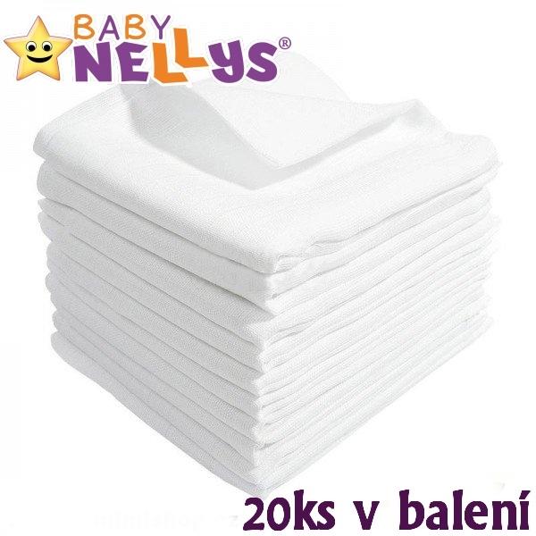 Kvalitné bavlnené plienky Baby Nellys - TETRA BASIC 80x80cm, 20ks v bal.