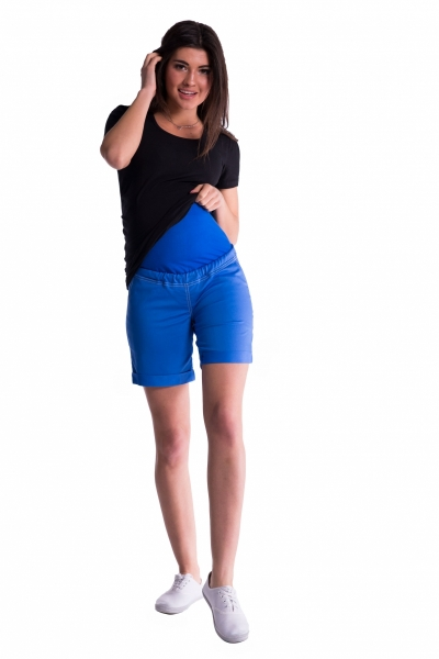 Tehotenské kraťasy s elastickým pásom - čierne veľ.M