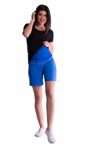 Tehotenské kraťasy s elastickým pásom - sv. modrá