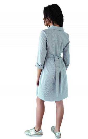 Tehotenské šaty, tunika s dl. rukávom - hnedé