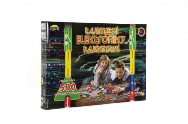 Teddies Tajomstvo elektroniky 500 experimentov na batérie v krabici 42x28,5x4cm.