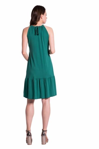 Letné tehotenské šaty na ramienkach - tm. ružová
