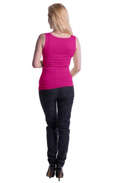 Tehotenské, dojčiace tielko s odnímateľnými ramienkami - ružové