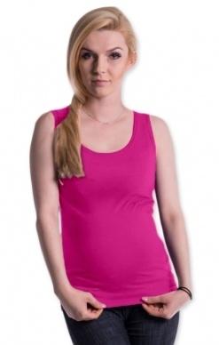 Be MaaMaa Tehotenské, dojčiace tielko s odnímateľnými ramienkami - ružové, vel´. L/XL