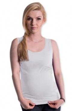 Tehotenské, dojčiace tielko s odnímateľnými ramienkami - biele