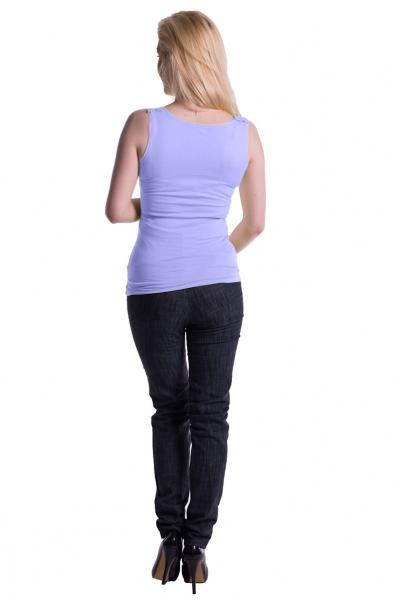 Tehotenské, dojčiace tielko s odnímateľnými ramienkami - sv. modré