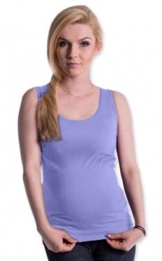 Be MaaMaa Tehotenské, dojčiace tielko s odnímateľnými ramienkami - sv. modré, vel´. L/XL