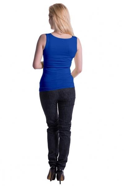 Tehotenské, dojčiace tielko s odnímateľnými ramienkami - tm. modré