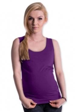Tehotenské, dojčiace tielko s odnímateľnými ramienkami - fialové