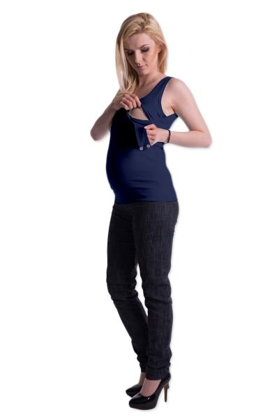 Tehotenské, dojčiace tielko s odnímateľnými ramienkami - granatové
