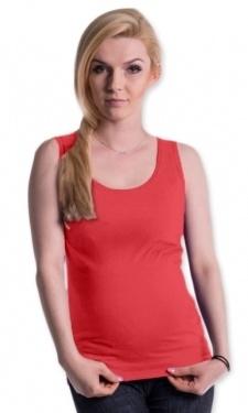 Tehotenské, dojčiace tielko s odnímateľnými ramienkami - korálová