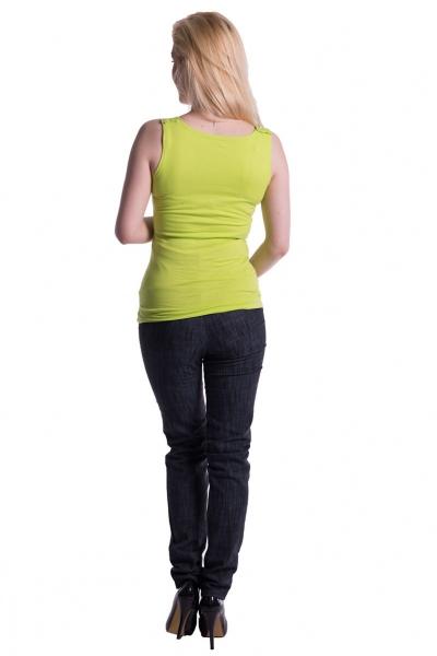 Tehotenské, dojčiace tielko s odnímateľnými ramienkami - limetka