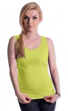 Be MaaMaa Tehotenské, dojčiace tielko s odnímateľnými ramienkami - limetka, vel´. L/XL-#Velikosti těh. moda;L/XL