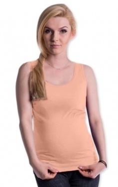 Tehotenské, dojčiace tielko s odnímateľnými ramienkami - lososové