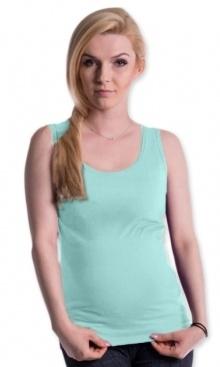 Tehotenské, dojčiace tielko s odnímateľnými ramienkami - mátové