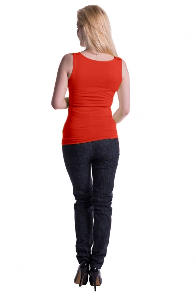 Tehotenské, dojčiace tielko s odnímateľnými ramienkami - pomeranč
