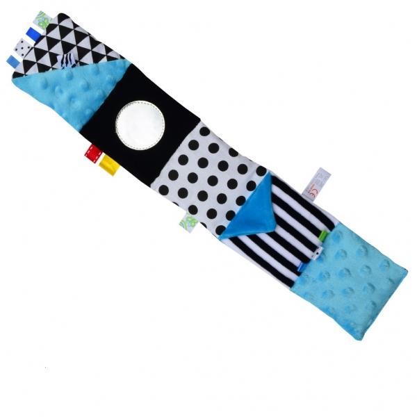 Hencz Toys Mini textilna knižka - modrá