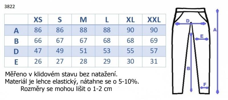 Tehotenské 3/4 nohavice s odpárateľným pásom - čierne