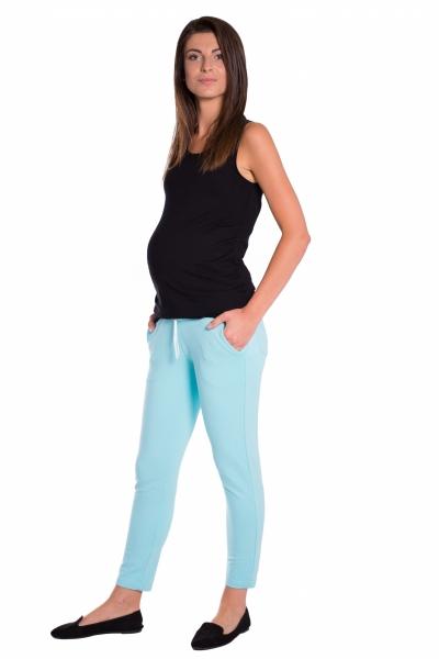 Be MaaMaa Tehotenské 3/4 nohavice s odpárateľným pásom -  mátové, vel. XL
